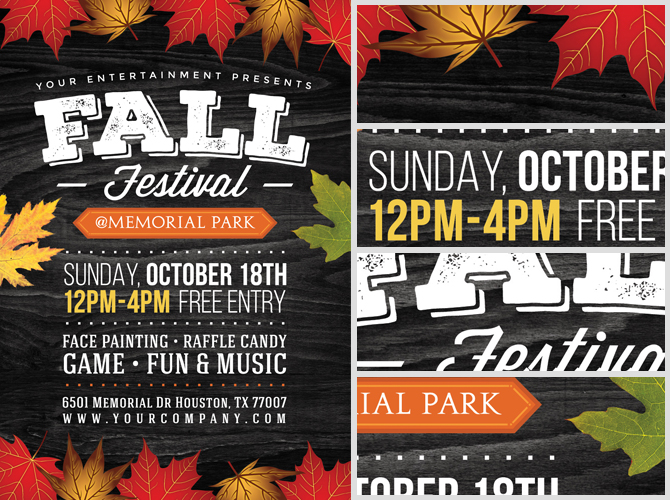 Fall Festival Flyer Template 2 FlyerHeroes