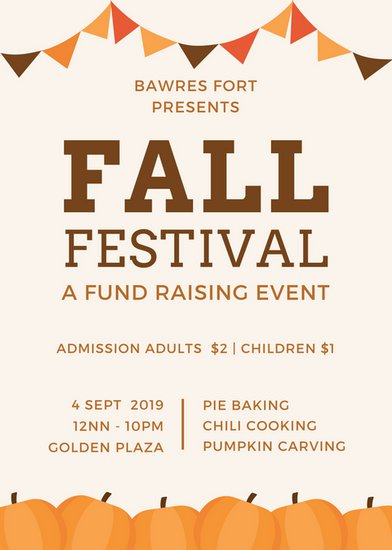 Fall Festival Flyer Templates by Canva