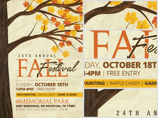Free Fall Festival Flyer Template Asafonggecco Fall Flyer
