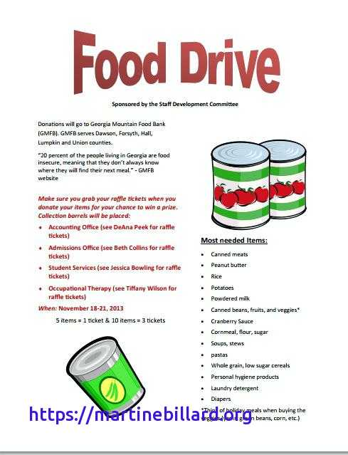 Free Food Drive Flyer Template – VMR Flyers