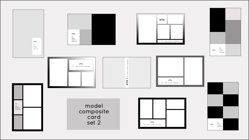 16 Comp Card PSD Template Images Model Comp Card Template