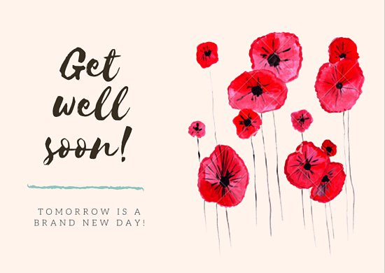 Awesome Get Well Soon Card Template Bmwf1blog.com