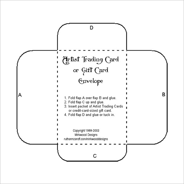 Blank Print and Cut Gift Card Envelope Template | Products I Love