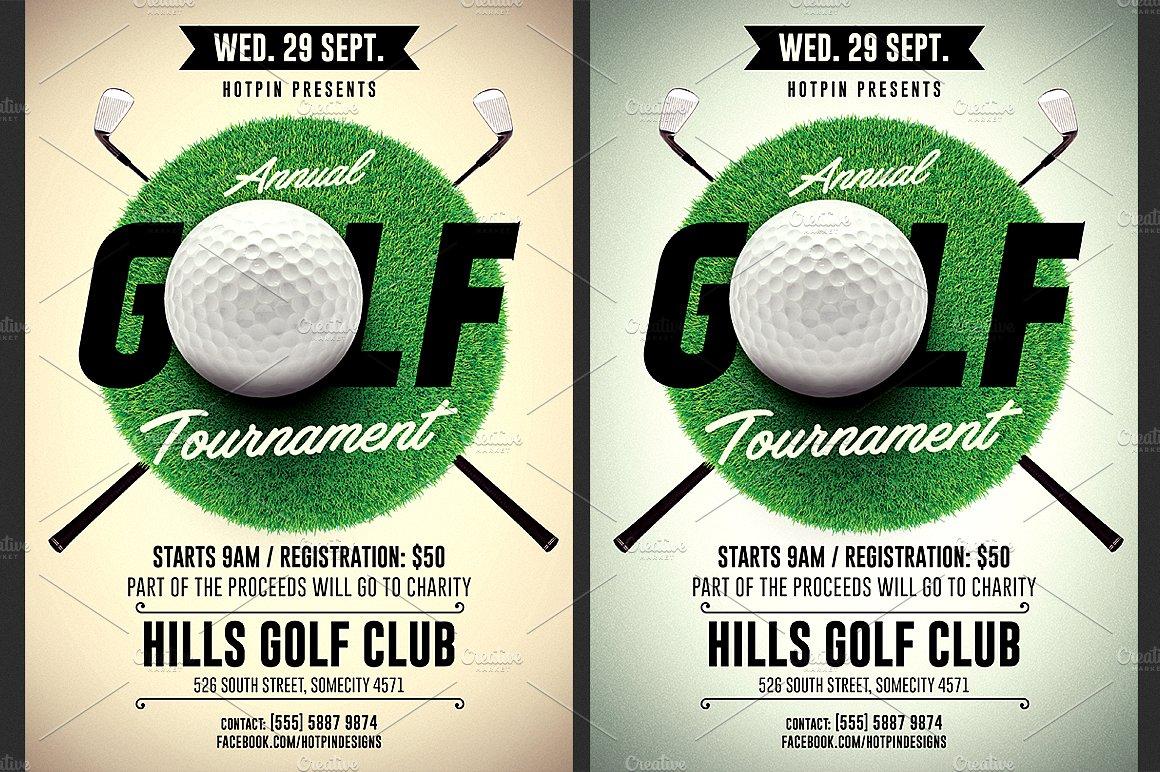 Golf Tournament Flyer Template ~ Flyer Templates ~ Creative Market