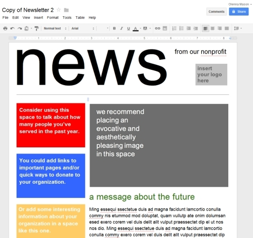 newsletter templates for google docs newsletter templates for