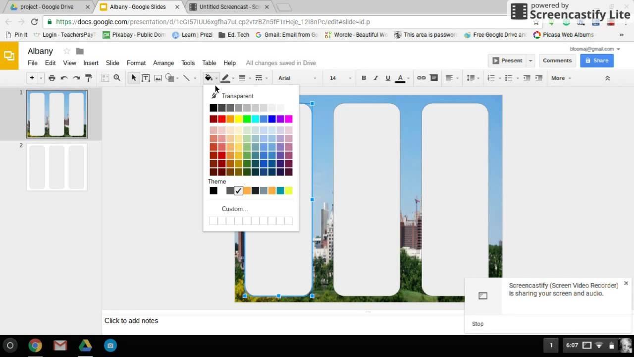 google slides brochure template