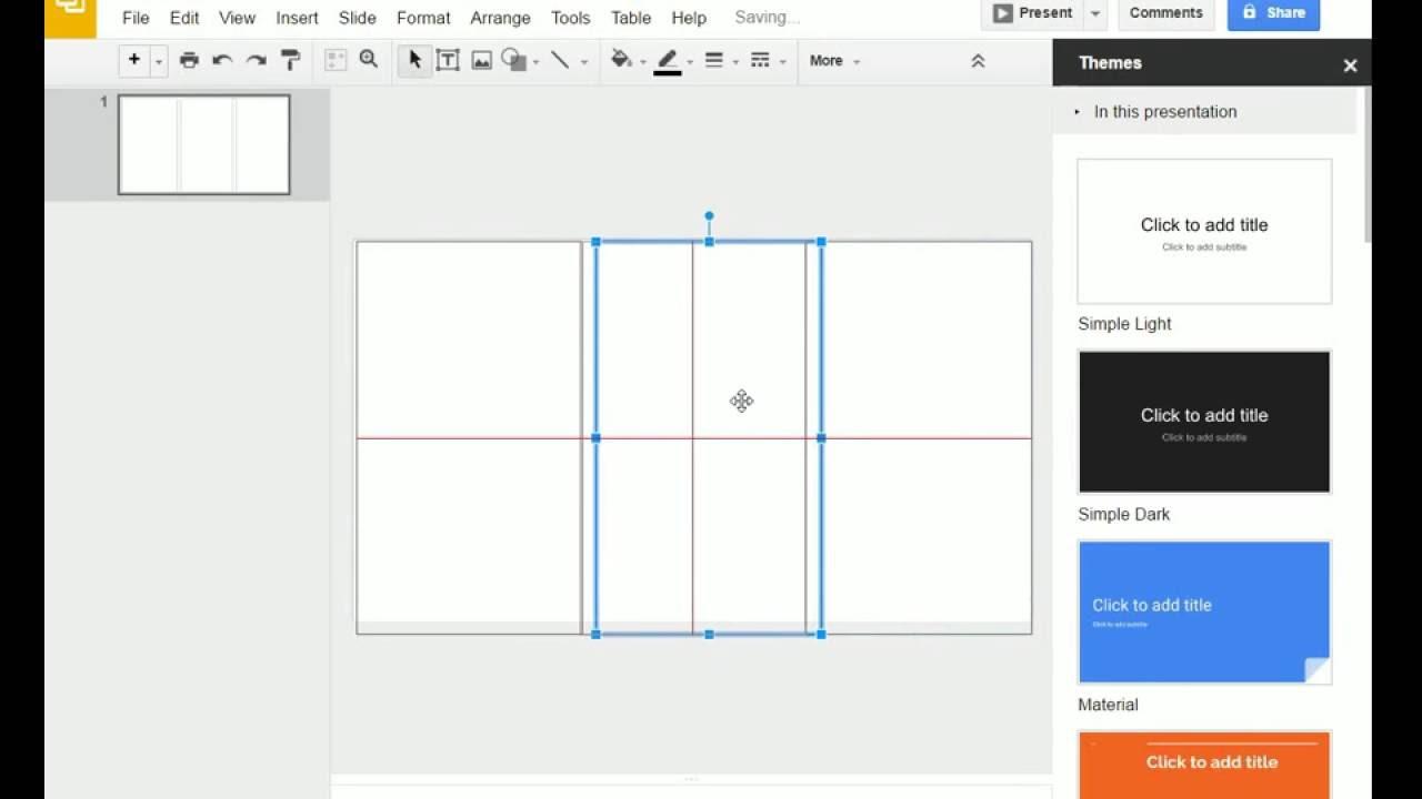 Brochure (Step 1) Google Slides Creating a Brochure Template