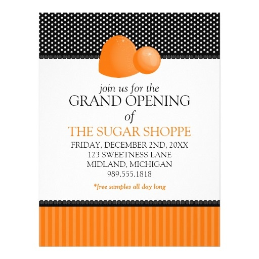 Business Grand Opening Invitation Wording Grand Opening Flyers