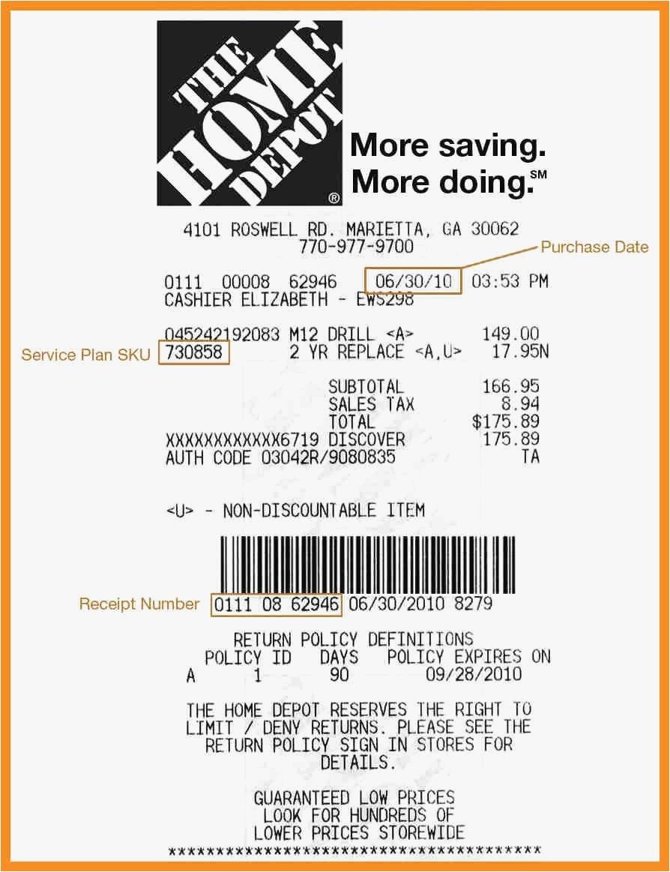 Home Depot Receipt Template New Walmart Receipt Template Of Home