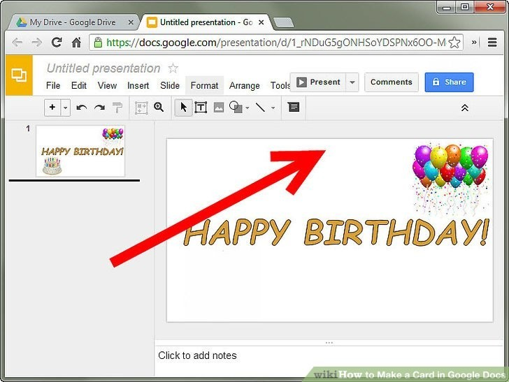 How To Make A Card In Google Docs Steps With Pictures Pertaining