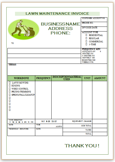 Landscaping Invoice Template 1 | Landscaping Invoice Templates