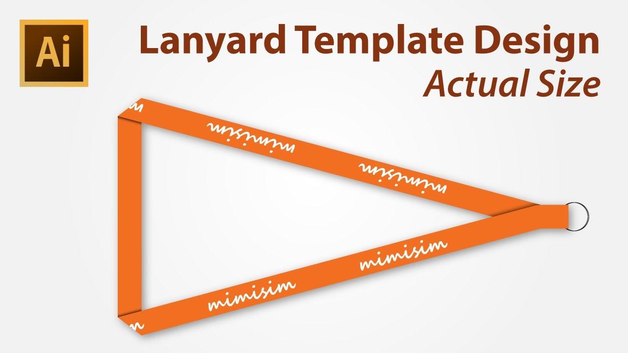 Lanyard Template Design using Adobe Illustrator YouTube