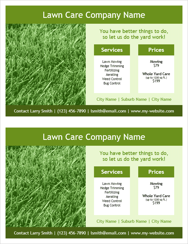 Lawn Care Flyer Template Up Lawn Care Template Plasurveyor.com