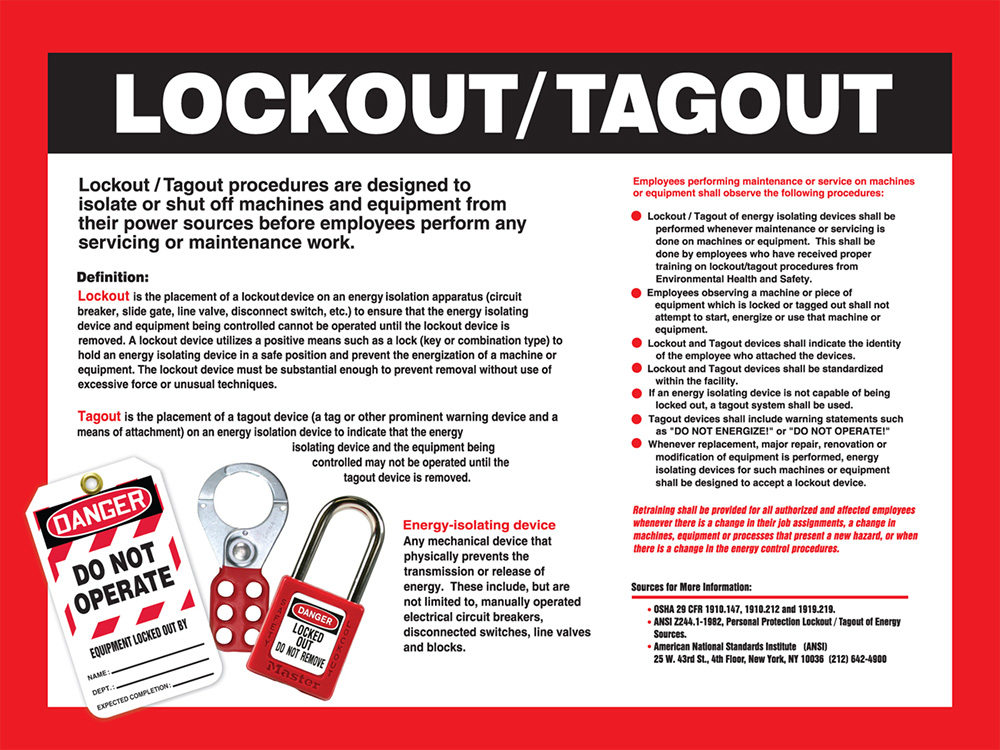 lock out tag out policy template lock out tag out procedure