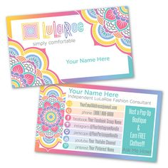 1434 best LULAROE Business Cards images on Pinterest in 2018