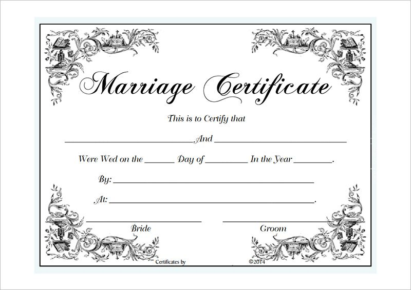 Marriage Certificate Template Microsoft Word : Selimtd | marriage