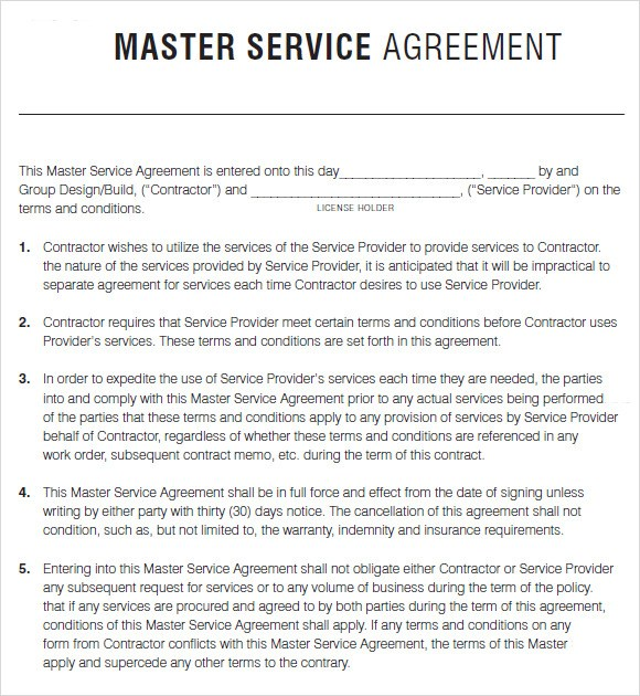 Master Service Agreement Template | gtld world congress