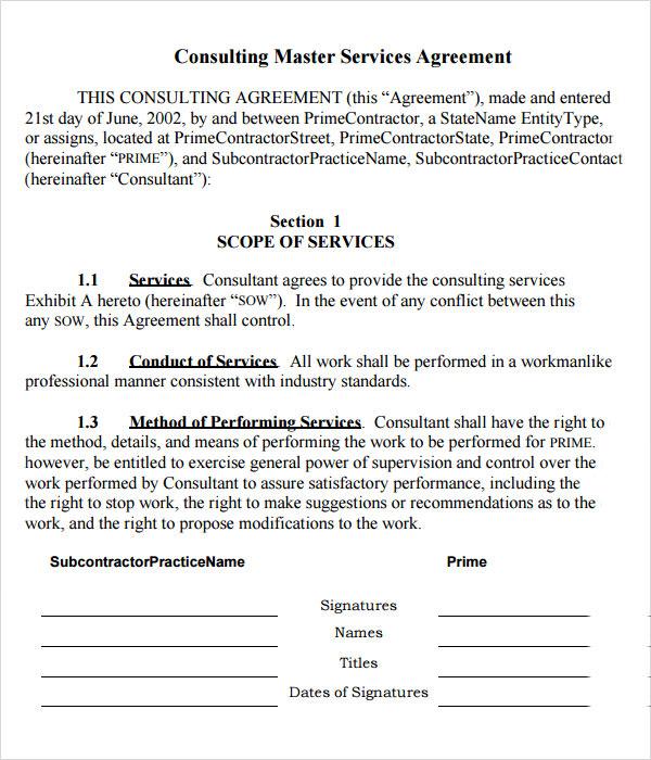 Master Services Agreement Template | gtld world congress