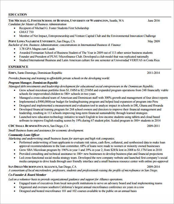 Resume » mba resume template doc | napaw.org