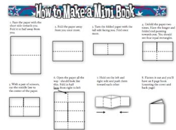 Mini Book Template for Word by MICHELLE BREWER | TpT
