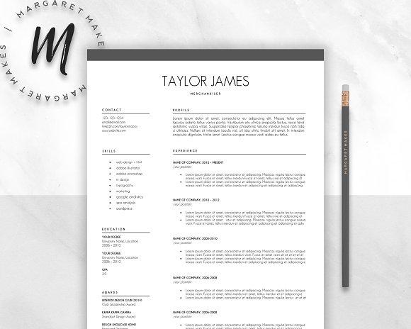Minimalist Resume Template ~ Resume Templates ~ Creative Market