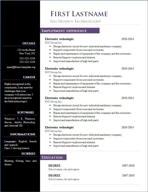 open office cv template download Narco.penantly.co