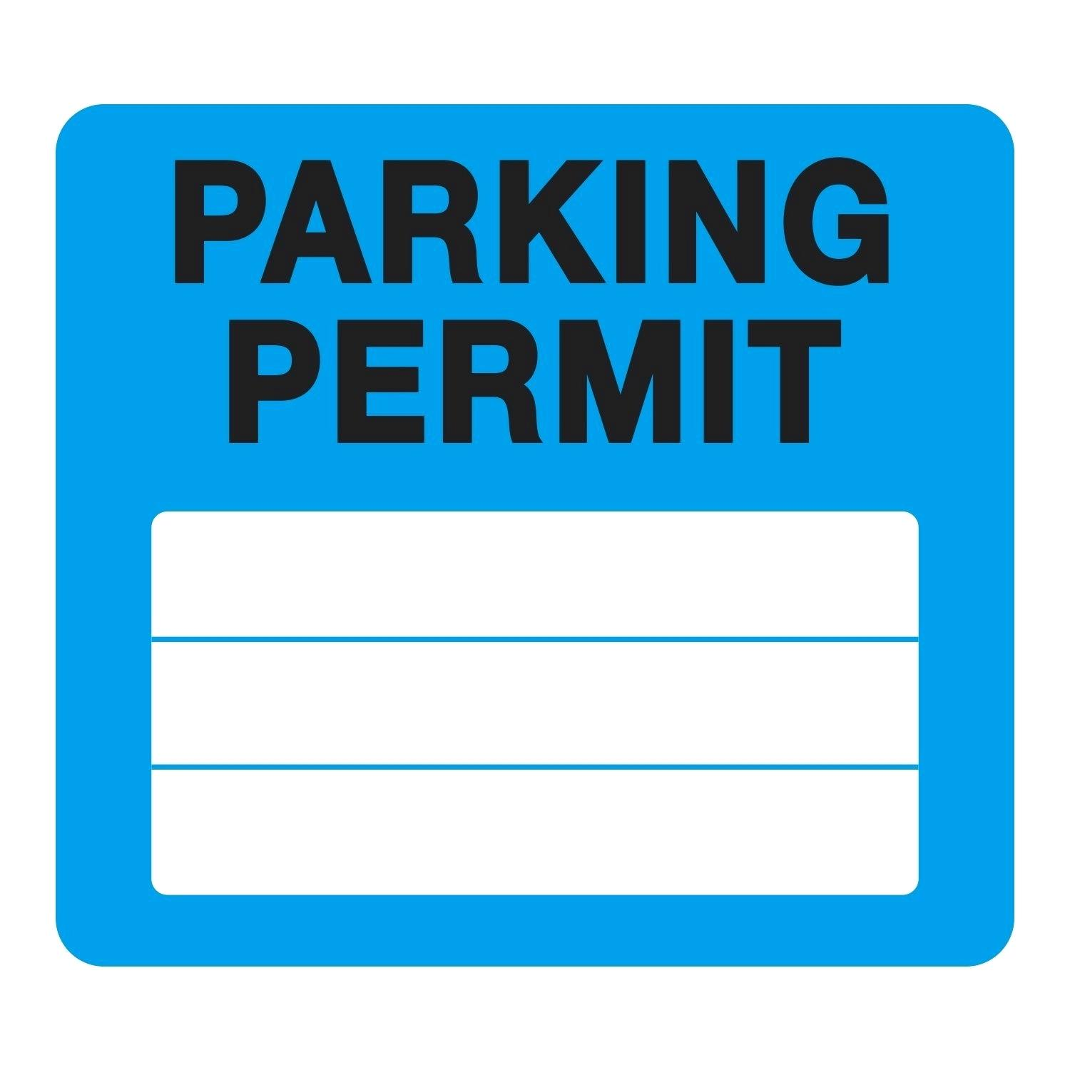 Parking Permit Template Pass Stock Static Cling Non Adhesive