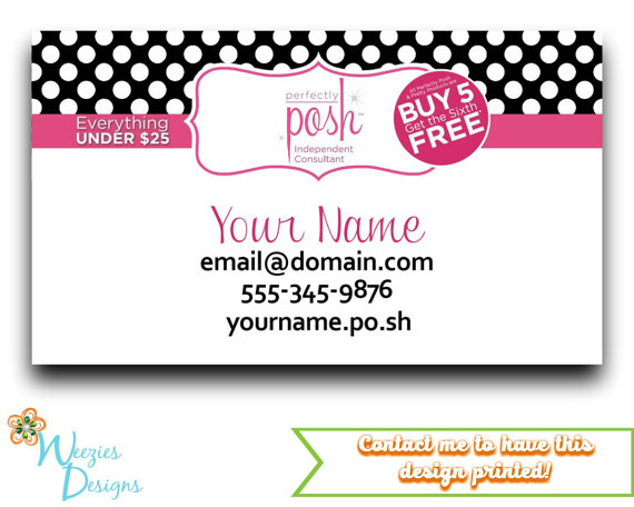 Perfectly Posh Business Card Template Perfectly Posh Business Card