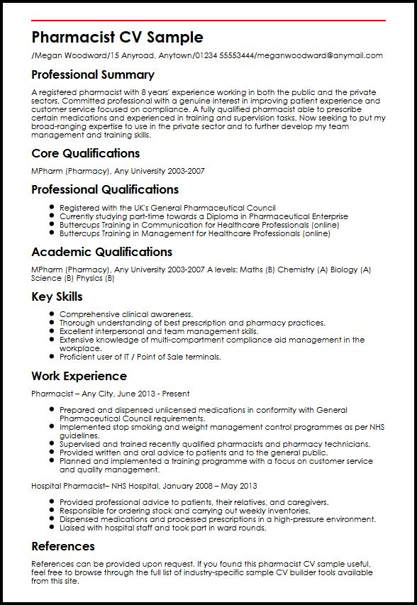 pharmacist curriculum vitae Narco.penantly.co