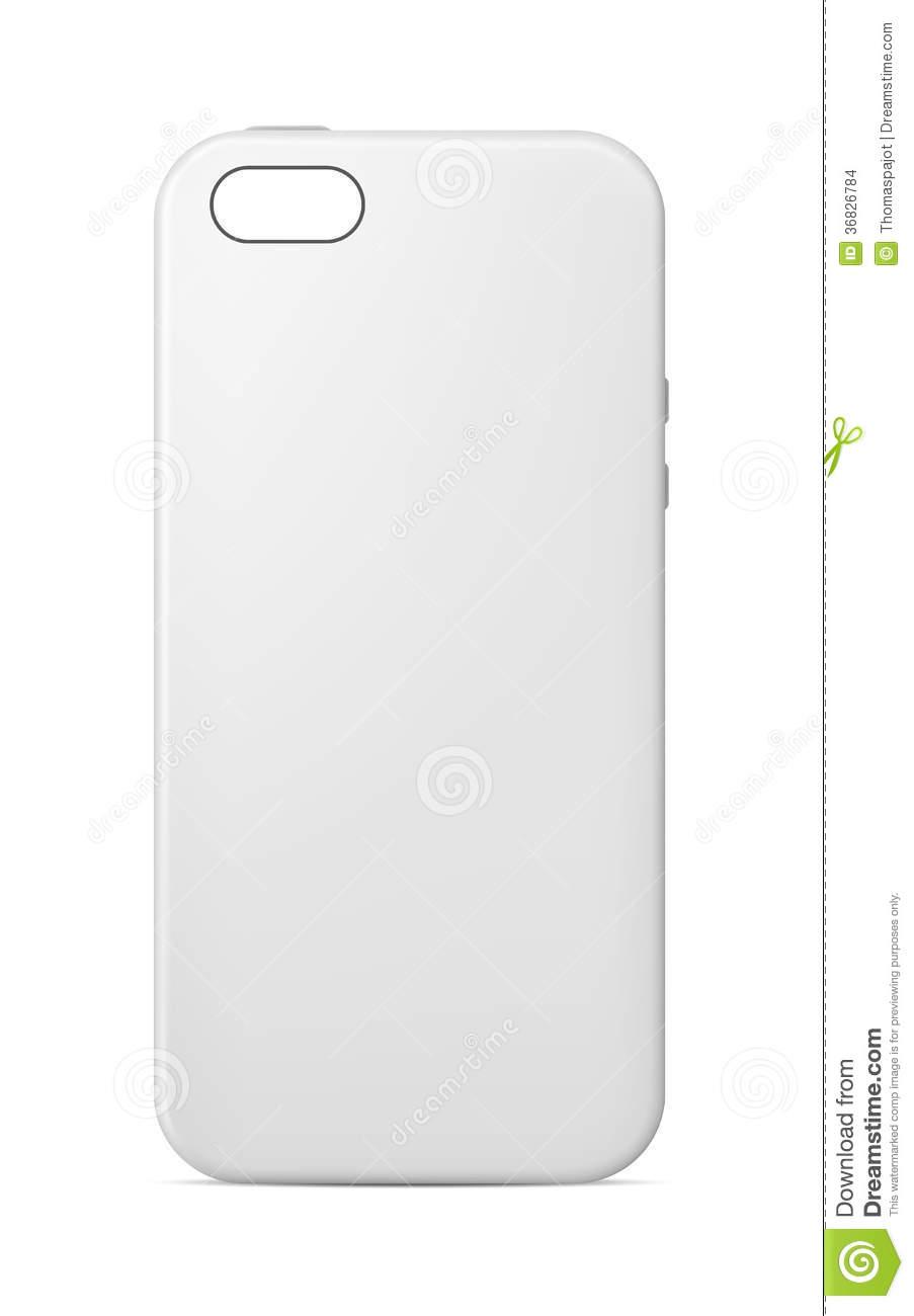 Phone case template stock vector. Illustration of customization