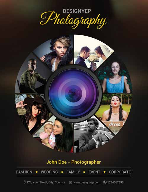 Free Photography Flyer PSD Template FreePSDFlyer Photography