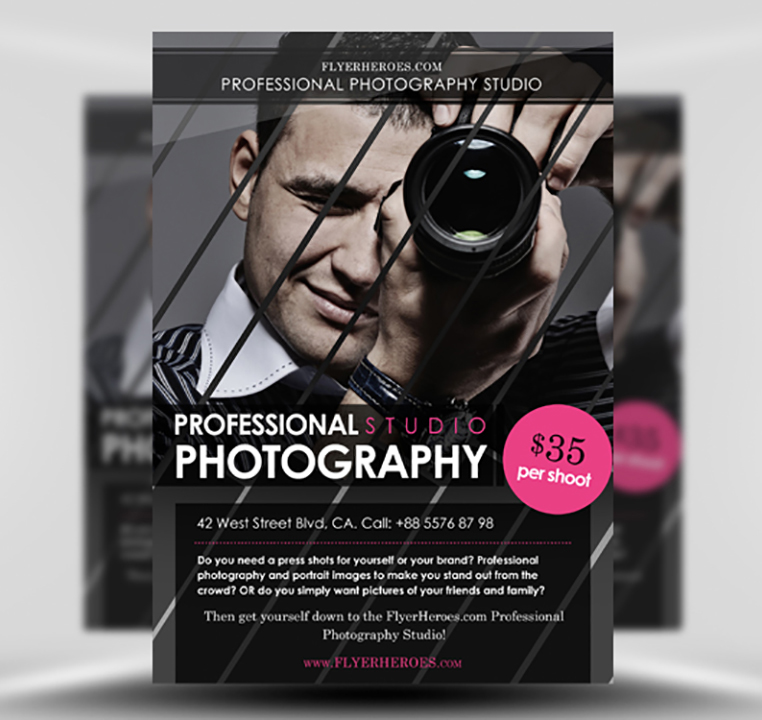 Free Photography Flyer Template FlyerHeroes