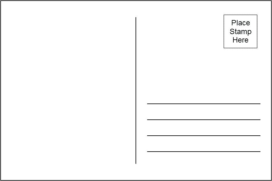 Photoshop Postcard Design Template Getting Personal