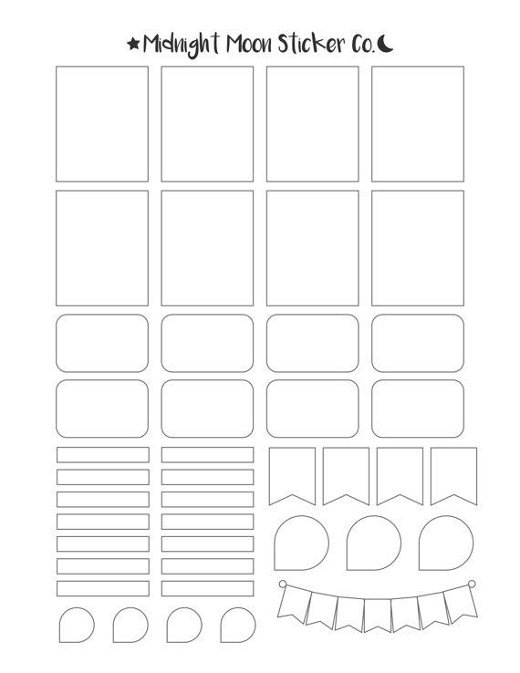 Mixed Template // Printable Template // Vertical Erin Condren Life