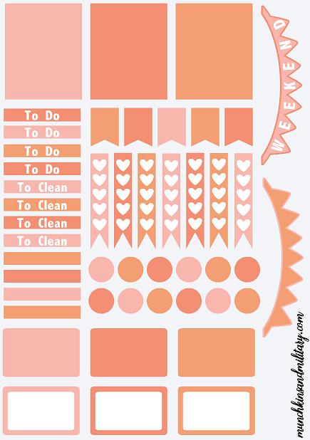 FREE printable template to create your own DIY Erin Condren Life