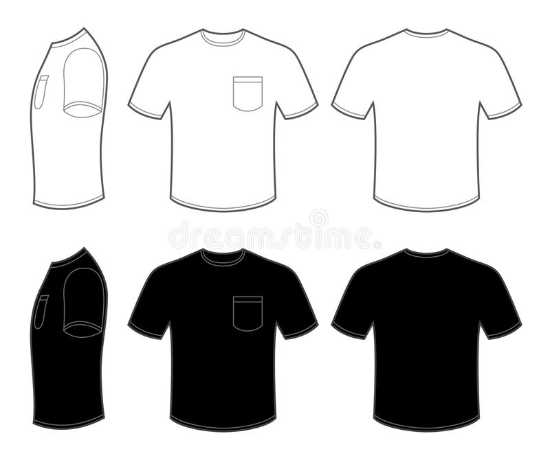 black t shirt with pocket template mans t shirt with pocket stock