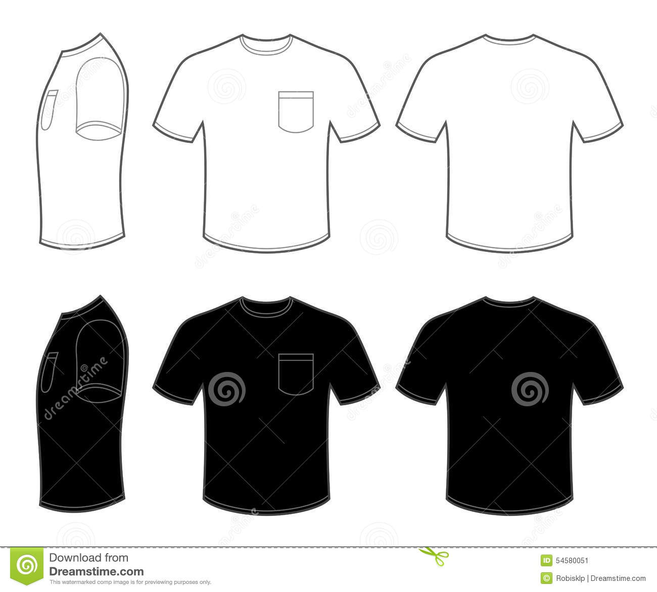 Mans T Shirt with Pocket stock vector. Illustration of clothes