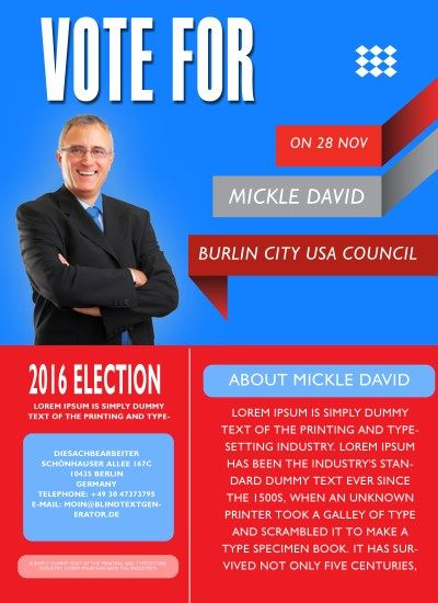 free political campaign flyer templates 11 | Free Political