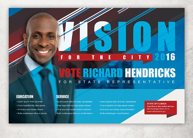 Vision Political Flyer Template ~ Flyer Templates ~ Creative Market