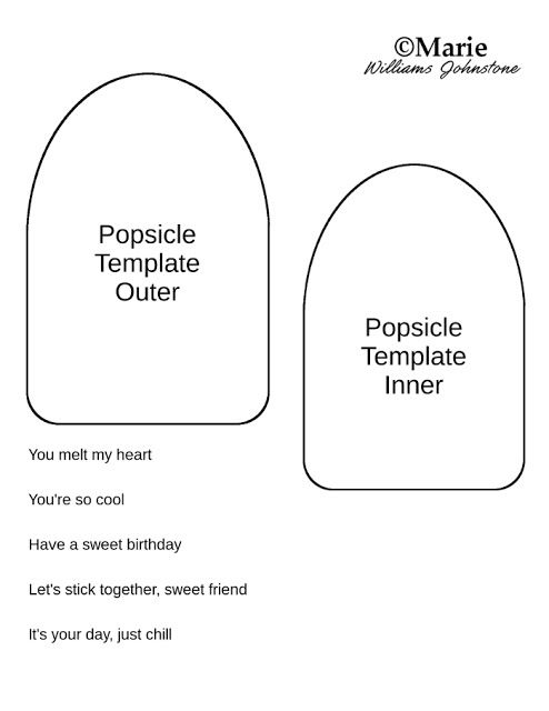 Popsicle Card Tutorial and Free Template | Felt Food | Templates