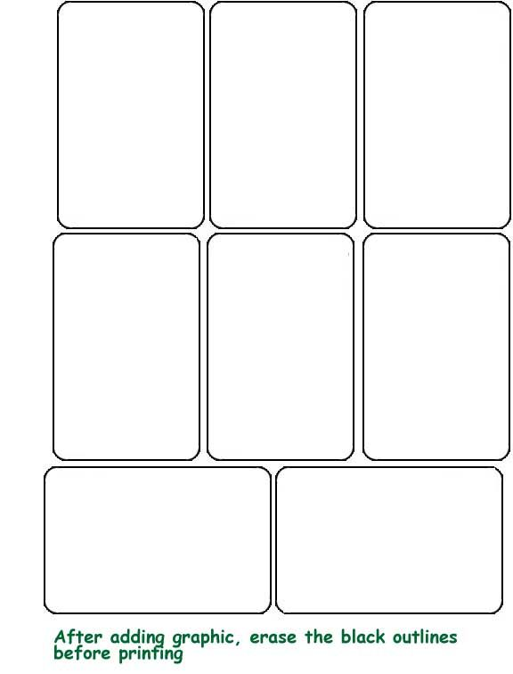 Blank Template hrací karty | Baapua Camp | Blank playing cards