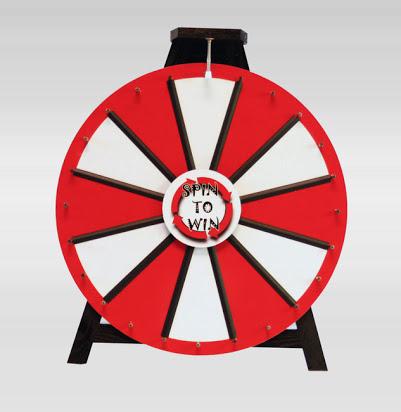 Prize Wheel | 18 Slot w/ Noisy Clicker and Printout Slots
