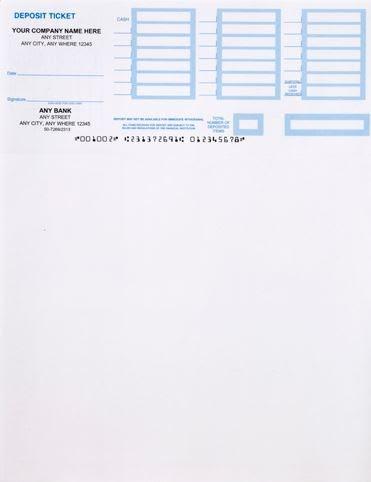 Techchecks. Printable Deposit Slip Accessories