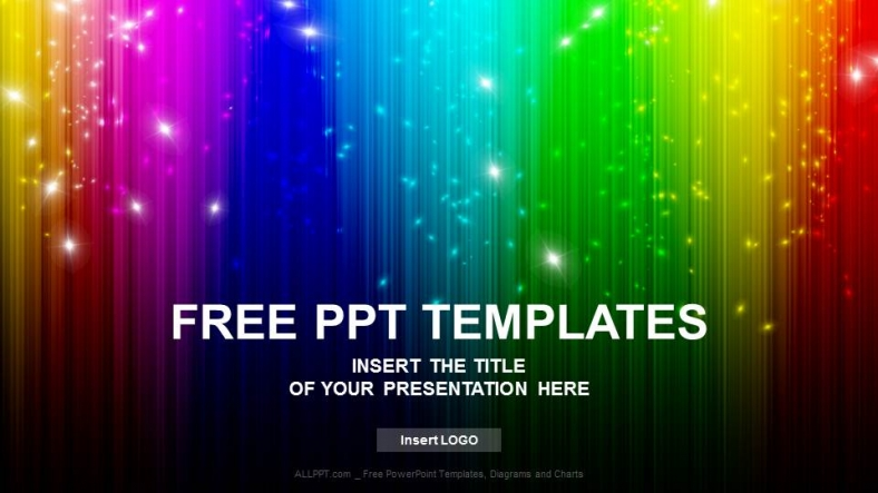 Rainbow Abstract PowerPoint Templates + Download Free +