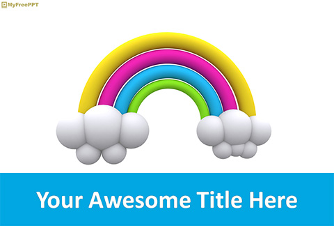 Free Rainbow PowerPoint Template Free PowerPoint Templates
