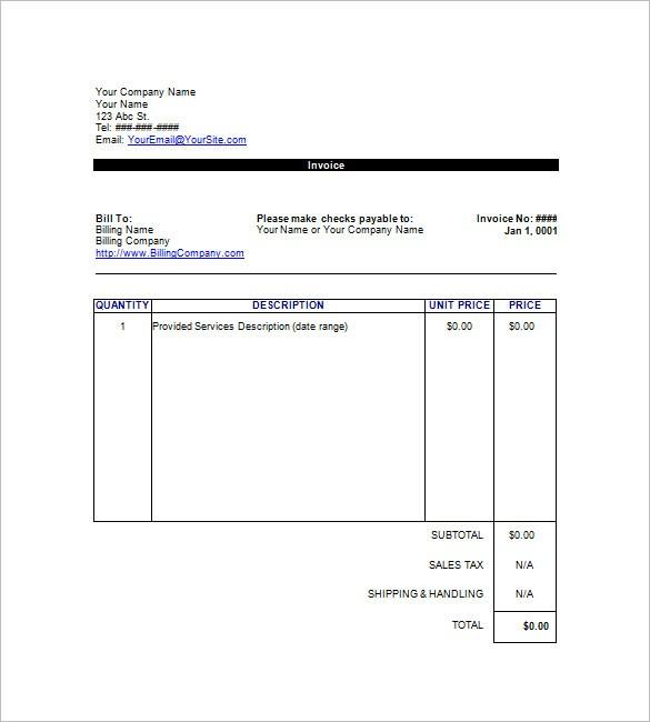 Invoice Template Google Docs Google Invoice Template Google