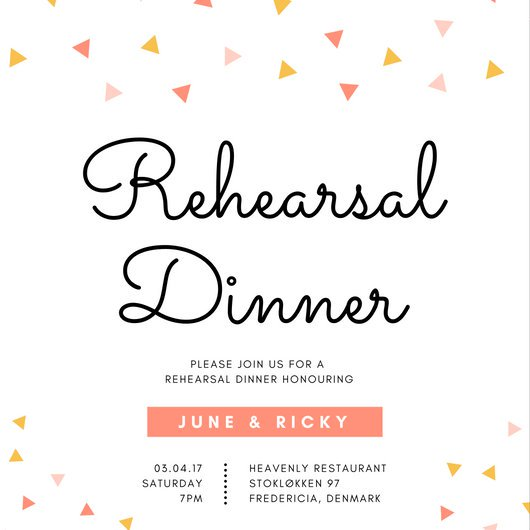 Customize 411+ Rehearsal Dinner Invitation templates online Canva