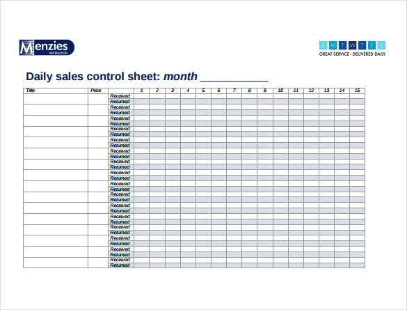 Sales Sheet Template 12+ Free Word, PDF Documents Download