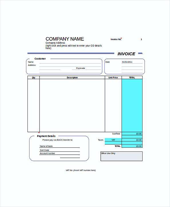 Pin oleh Joko di invoice template | Pinterest | Invoice template