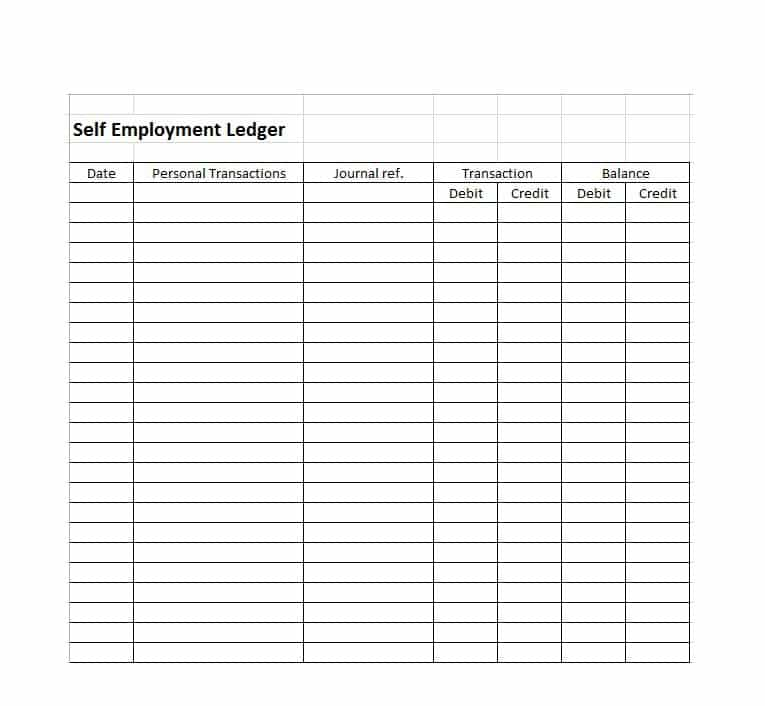 Self Employment Ledger: 40 FREE Templates & Examples